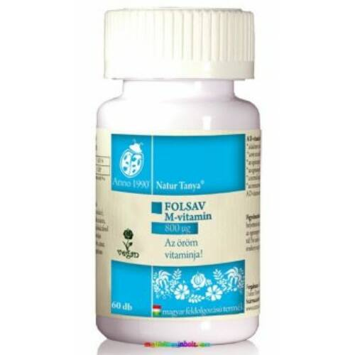 Szerves folsav -  Az öröm vitaminja. 60 db